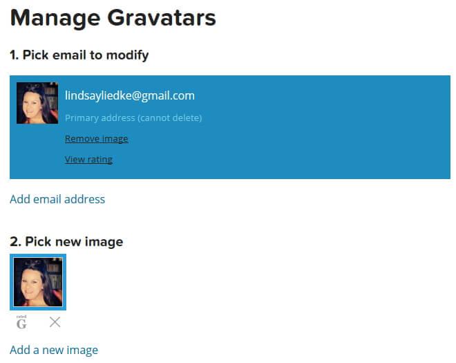 Manage Gravatar