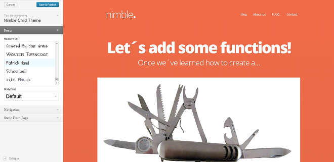 Nimble-choosing-google-fonts