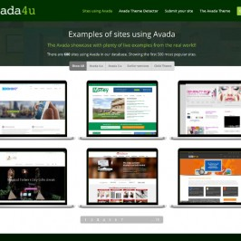 Avada4u: A new site about Avada featuring a filterable showcase