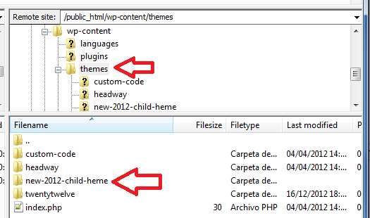 child-theme-folder-created