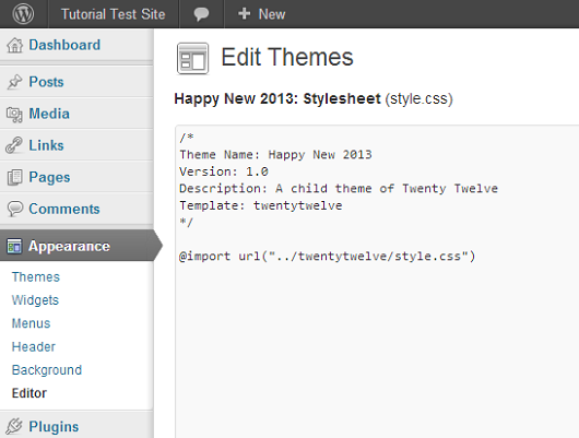 child-theme-stylesheet