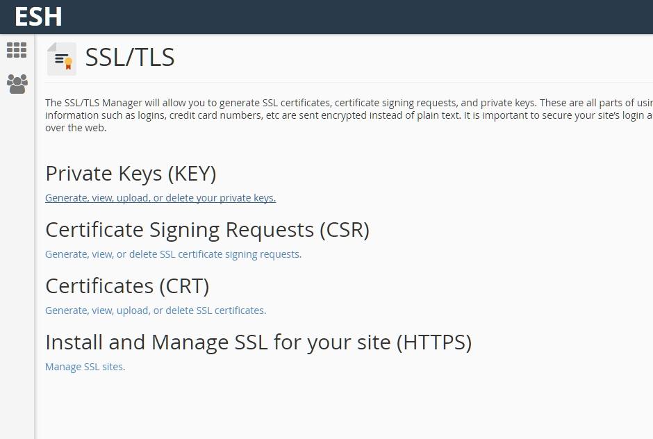 Certificate install