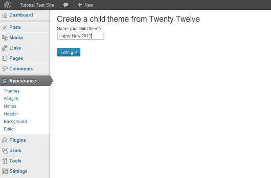 create-child-theme-from-twenty-twelve