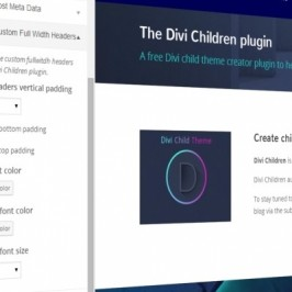 Divi Children plugin: Customize Divi easily through a child theme