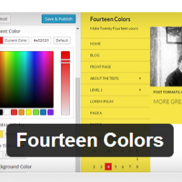 Changing the colors of the Twenty Fourteen theme