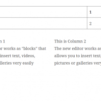 buttons and tables in gutenberg