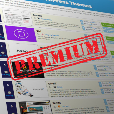 All Top Ten WordPress themes are premium now - WordPress Theme Detector