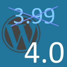 WordPress 4.0 or WordPress 3.99, is that the question?